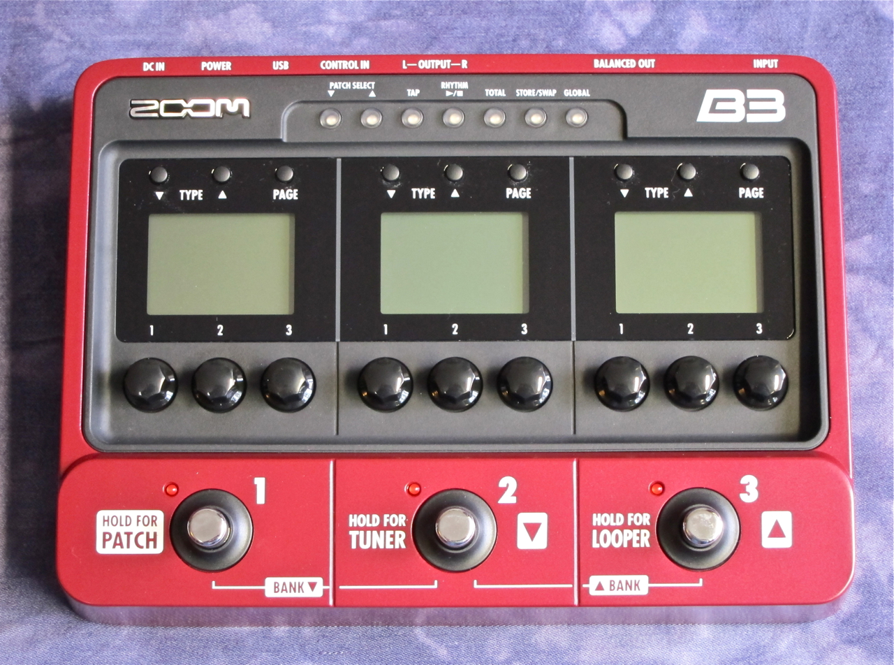 Guitar effect patches for zoom B3