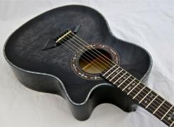 Schecter Hellraiser Studio Acoustic – body angle 2