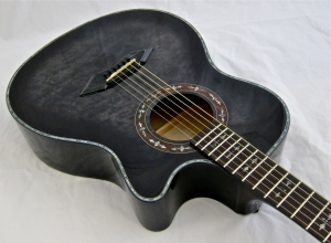 Schecter Hellraiser Studio Acoustic – body angle 2