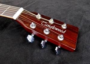 Tanglewood TW28-CLN + Woody – headstock