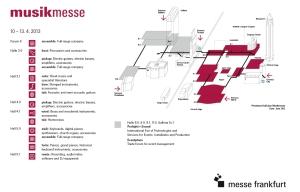 Musikmesse 2013 – Lageplan
