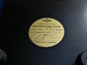 Rotosound Fuzz – label