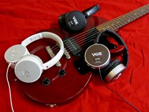 Vox Amphones – and guitar