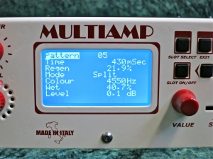 DV Mark Multiamp – parameter view Delay