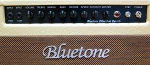 Bluetone Princeton Reverb – control panel