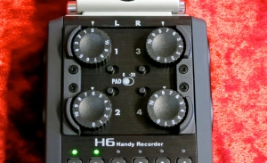 Zoom H6 – level knobs