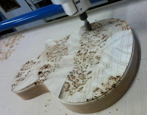 rough shaping of carved top