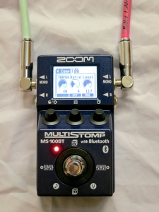 Zoom MS-100BT – parameter page