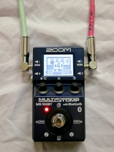 Zoom MS-100BT – selecting next effect