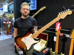 Product specialist Christian Alsing and the Fender 60th Anniversary Commemorative Stratocaster