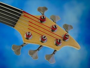 Juha Savisalo 6-String double bass – headstock