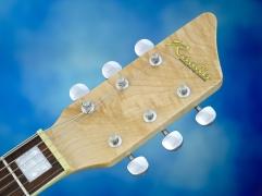 Rautia Guitars Dual Tone Style – headstock