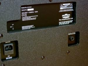 Vox AC10C1 – back panel