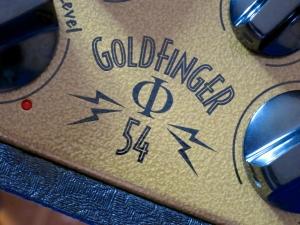 Bogner Goldfinger Phi 54 – control panel logo