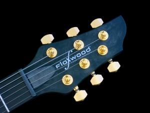 Flaxwood MTQ Hybrid – headstock
