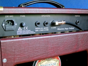 Bluetone Black Prince Reverb – back panel