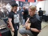 Jussi Kaakkolammi + visitor at Bluetone Amps (FIN)