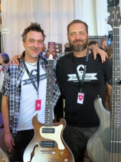 Sascha Proske + Robby Rybol at Gamble Guitars (DE)